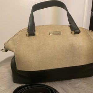 Kate Spade canvas and leather bag with long strap